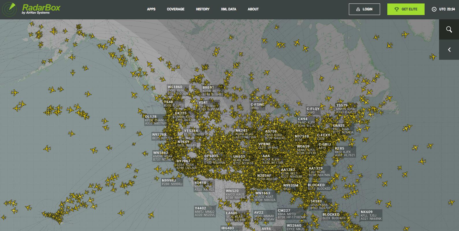 Amazing Visualization Of Us Air Traffic Black Box Paradox - Us-air-traffic-map