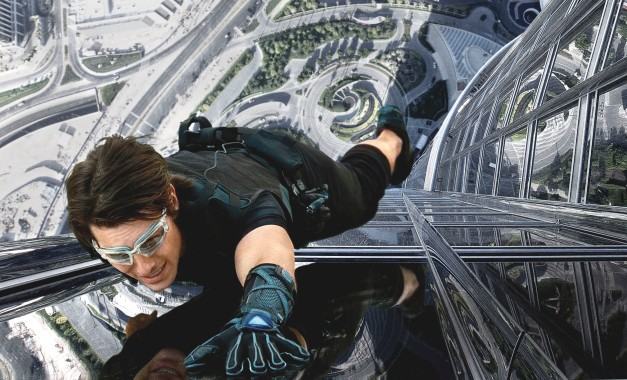Tom Cruise on Burj Khalifa